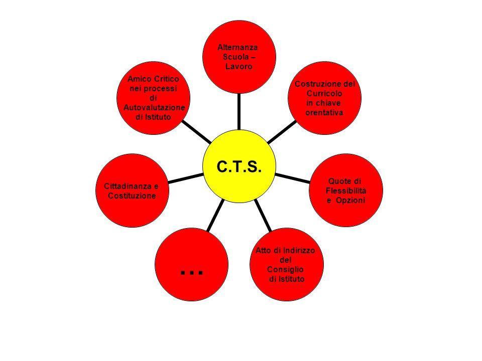 C.T.S. Alternanza Scuola – Lavoro Costruzione del Curricolo in chiave orentativa Quote di Flessibilità e Opzioni Atto di Indirizzo del Consiglio di Is
