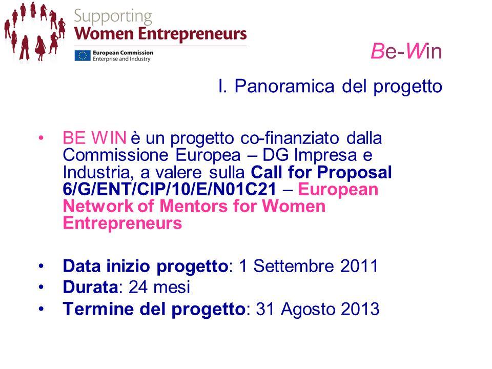 Be-Win I. Panoramica del progetto BE WIN è un progetto co-finanziato dalla Commissione Europea – DG Impresa e Industria, a valere sulla Call for Propo