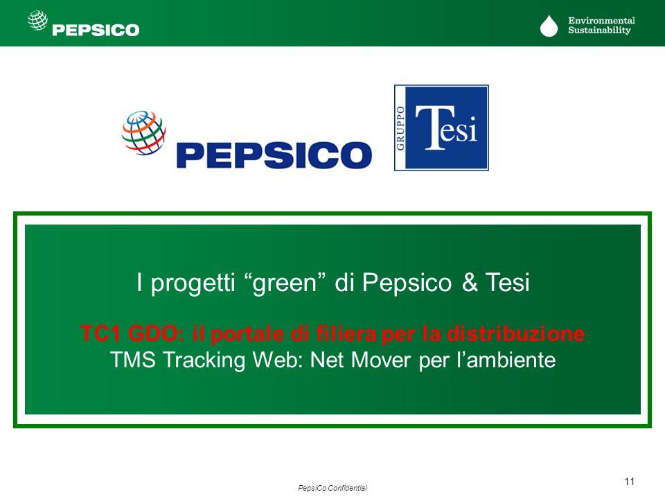 11 PepsiCo Confidential I progetti green di Pepsico & Tesi TC1 GDO: il portale di filiera per la distribuzione TMS Tracking Web: Net Mover per lambien