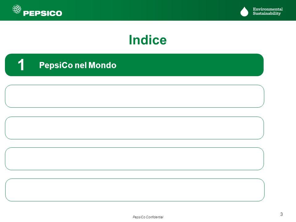 3 PepsiCo Confidential PepsiCo nel Mondo 1 MU Italia: sostenibilità ambientale nella produzione 2 MU Italia: sostenibilità ambientale nella logistica
