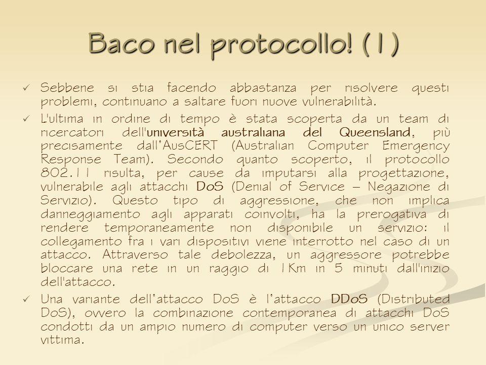 Baco nel protocollo! (1) Sebbene si stia facendo abbastanza per risolvere questi problemi, continuano a saltare fuori nuove vulnerabilità. L'ultima in