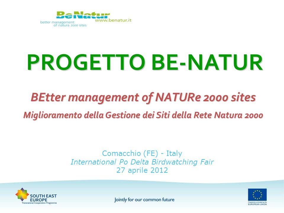 Comacchio (FE) - Italy International Po Delta Birdwatching Fair 27 aprile 2012 PROGETTO BE-NATUR BEtter management of NATURe 2000 sites Miglioramento