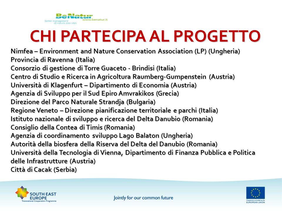 CHI PARTECIPA AL PROGETTO Nimfea – Environment and Nature Conservation Association (LP) (Ungheria) Provincia di Ravenna (Italia) Consorzio di gestione