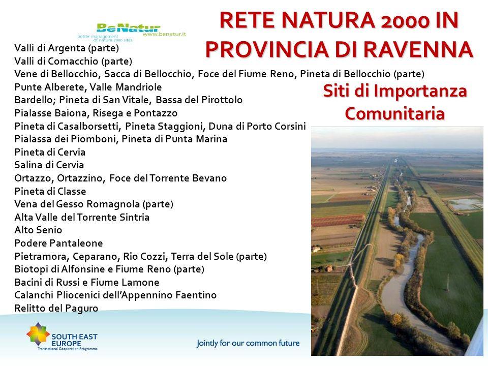 Valli di Argenta (parte) Valli di Comacchio (parte) Vene di Bellocchio, Sacca di Bellocchio, Foce del Fiume Reno, Pineta di Bellocchio (parte) Punte A