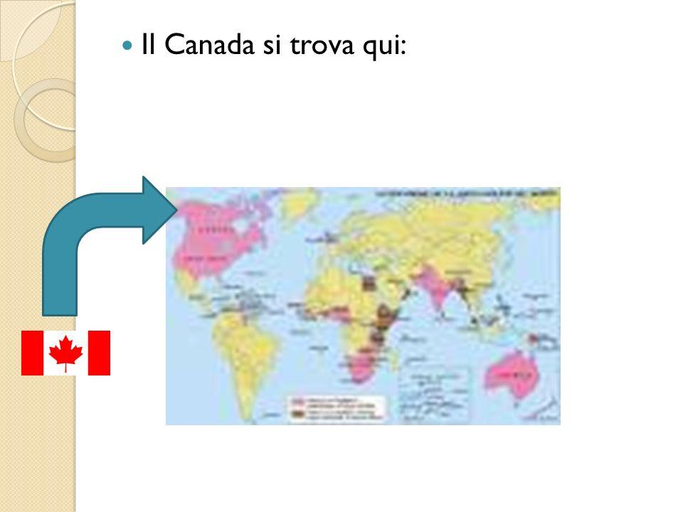Il Canada si trova qui: