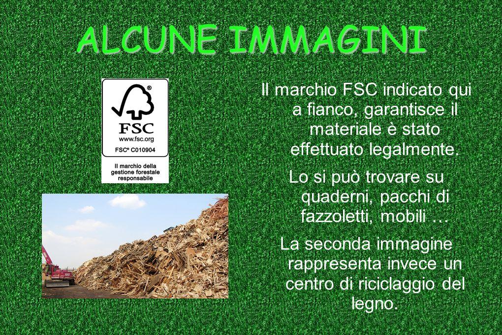 ALCUNE IMMAGINI Il marchio FSC indicato qui a fianco, garantisce il materiale è stato effettuato legalmente. Lo si può trovare su quaderni, pacchi di
