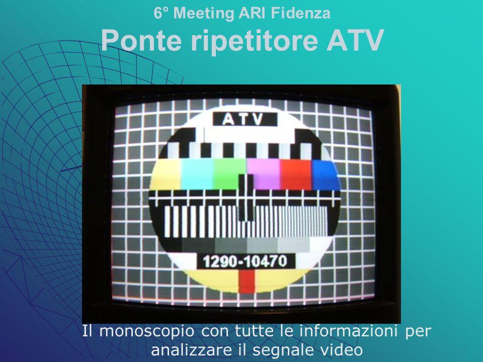 Il monoscopio con tutte le informazioni per analizzare il segnale video 6° Meeting ARI Fidenza Ponte ripetitore ATV