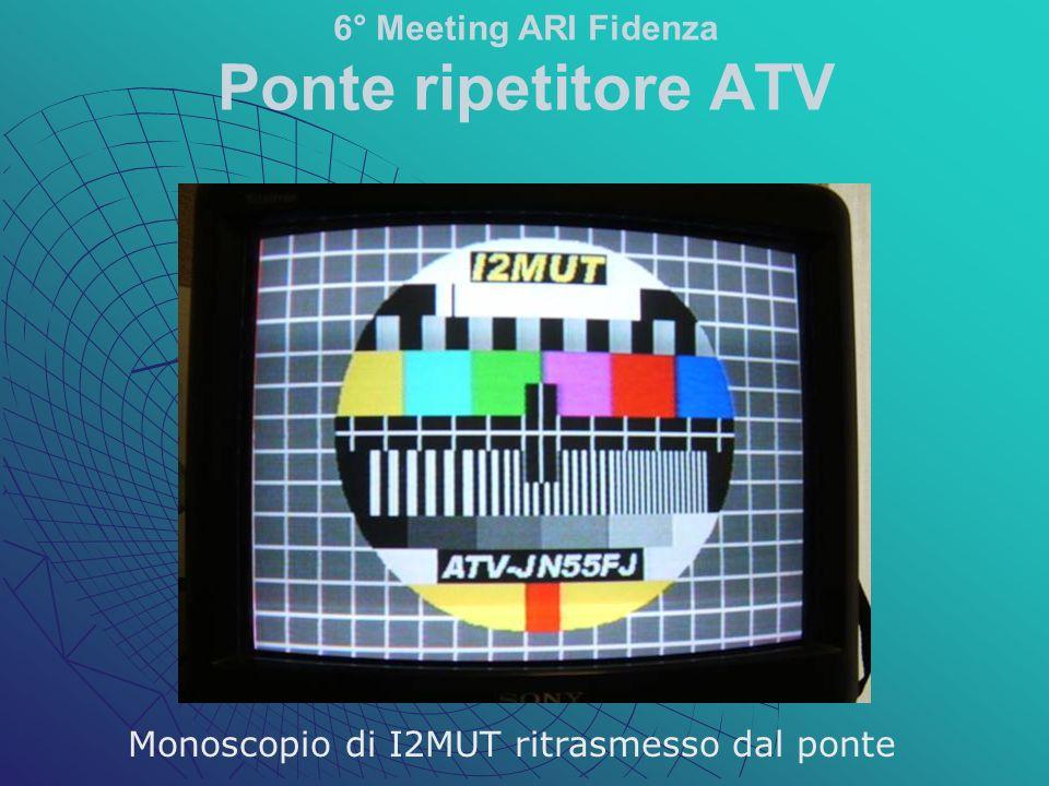 Monoscopio di I2MUT ritrasmesso dal ponte