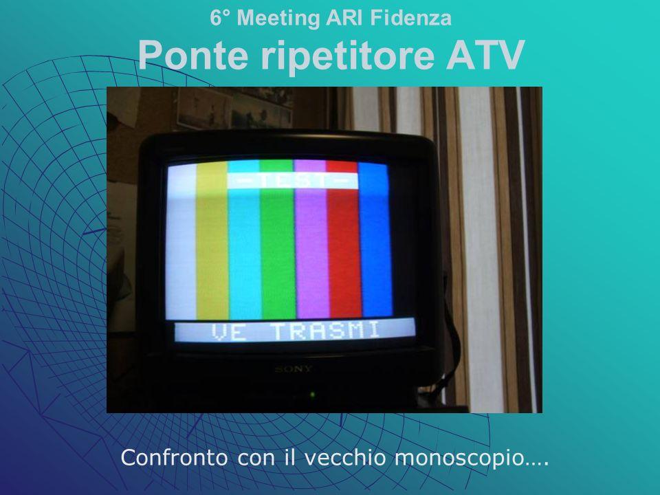 Confronto con il vecchio monoscopio…. 6° Meeting ARI Fidenza Ponte ripetitore ATV