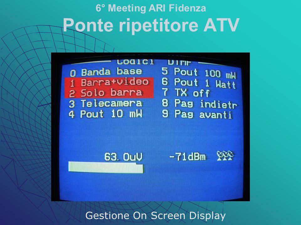 6° Meeting ARI Fidenza Ponte ripetitore ATV Gestione On Screen Display