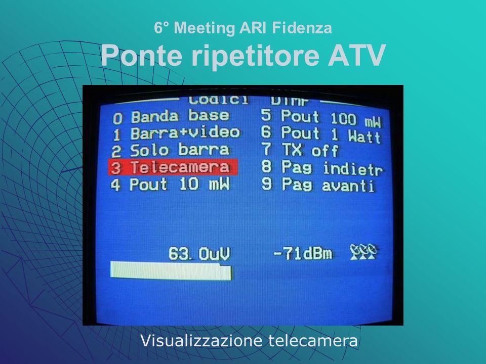 6° Meeting ARI Fidenza Ponte ripetitore ATV Visualizzazione telecamera