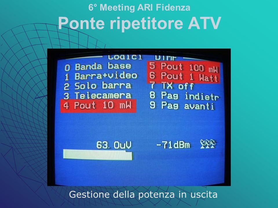 Gestione della potenza in uscita 6° Meeting ARI Fidenza Ponte ripetitore ATV