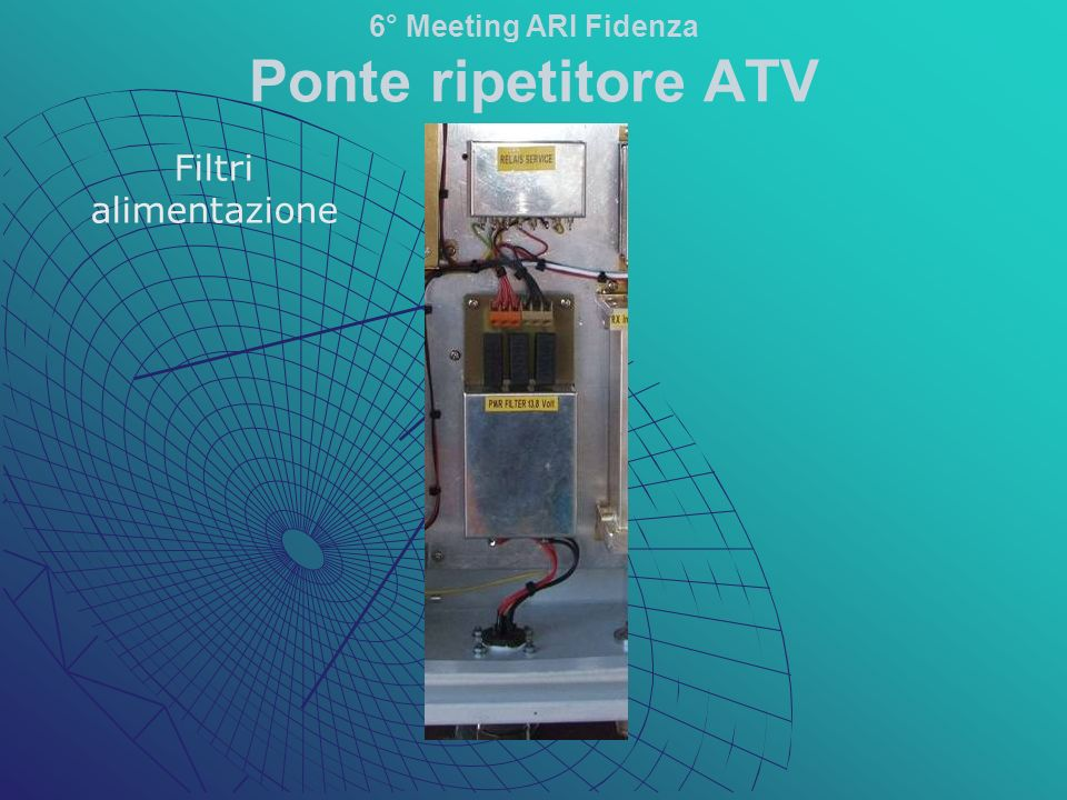 Stadi di ingresso: -Filtro passabanda - Circolatore -Preamplificatore 6° Meeting ARI Fidenza Ponte ripetitore ATV