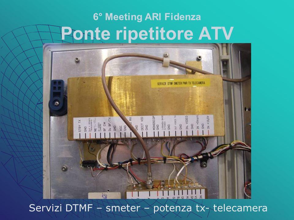 6° Meeting ARI Fidenza Ponte ripetitore ATV Servizi DTMF – smeter – potenza tx- telecamera