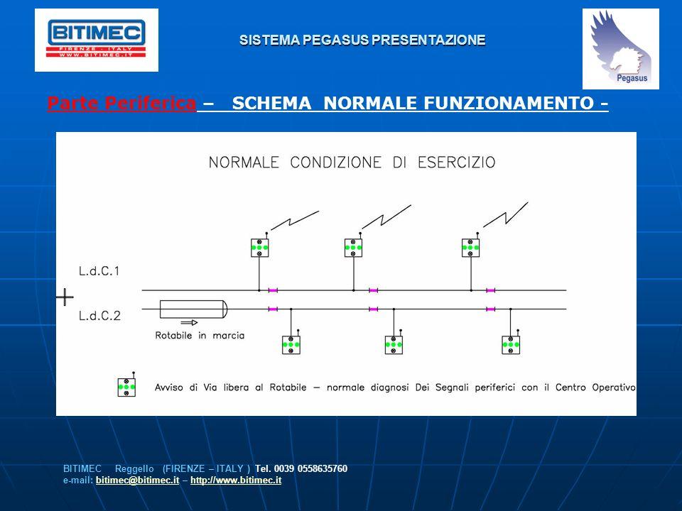 SISTEMA PEGASUS PRESENTAZIONE Parte Periferica – SCHEMA NORMALE FUNZIONAMENTO - BITIMEC Reggello (FIRENZE – ITALY ) Tel. 0039 0558635760 e-mail: bitim