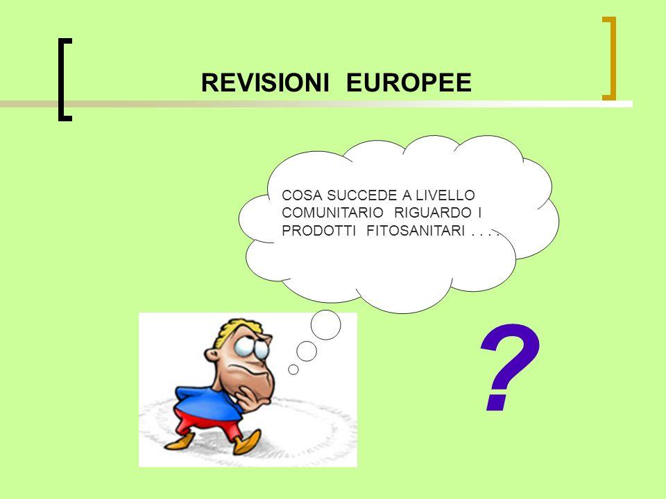 REVISIONI EUROPEE ? COSA SUCCEDE A LIVELLO COMUNITARIO RIGUARDO I PRODOTTI FITOSANITARI....
