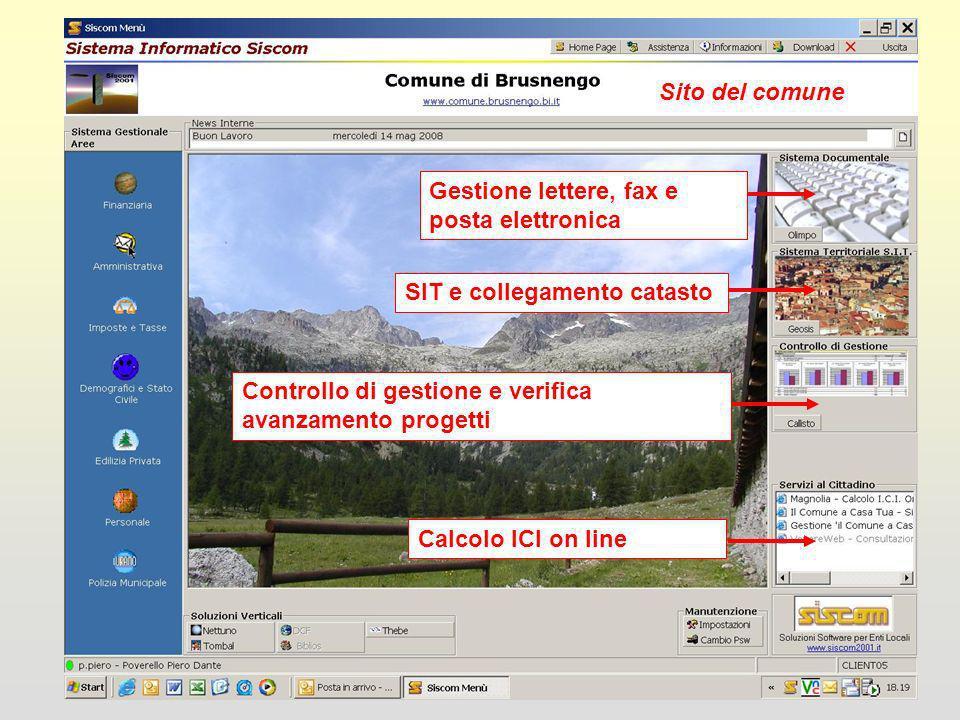 Nettuno: Gestione commercioTombal: Gestione SIT cimiteriThebe: Gestione progetti opere pubbliche Sito del comune