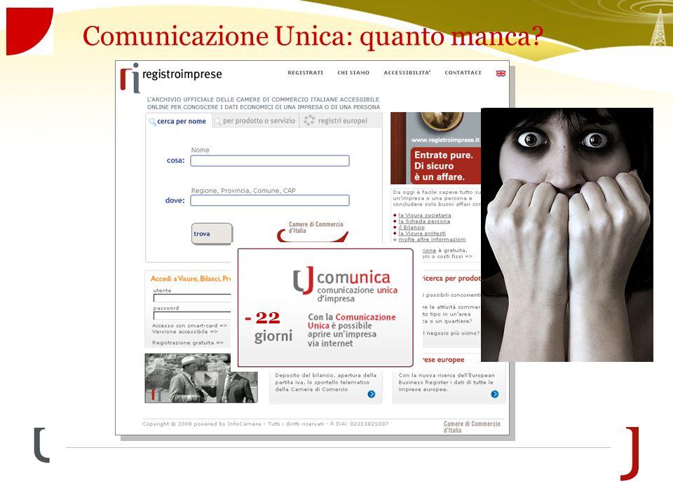 Comunicazione Unica: quanto manca 22