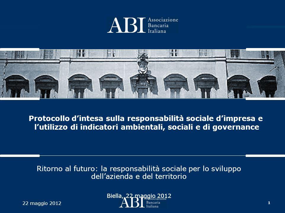 2 22 maggio 2012 AGENDA Il Protocollo di intesa Il Progetto Indicatori di sostenibilità La sperimentazione sul territorio Prime evidenze