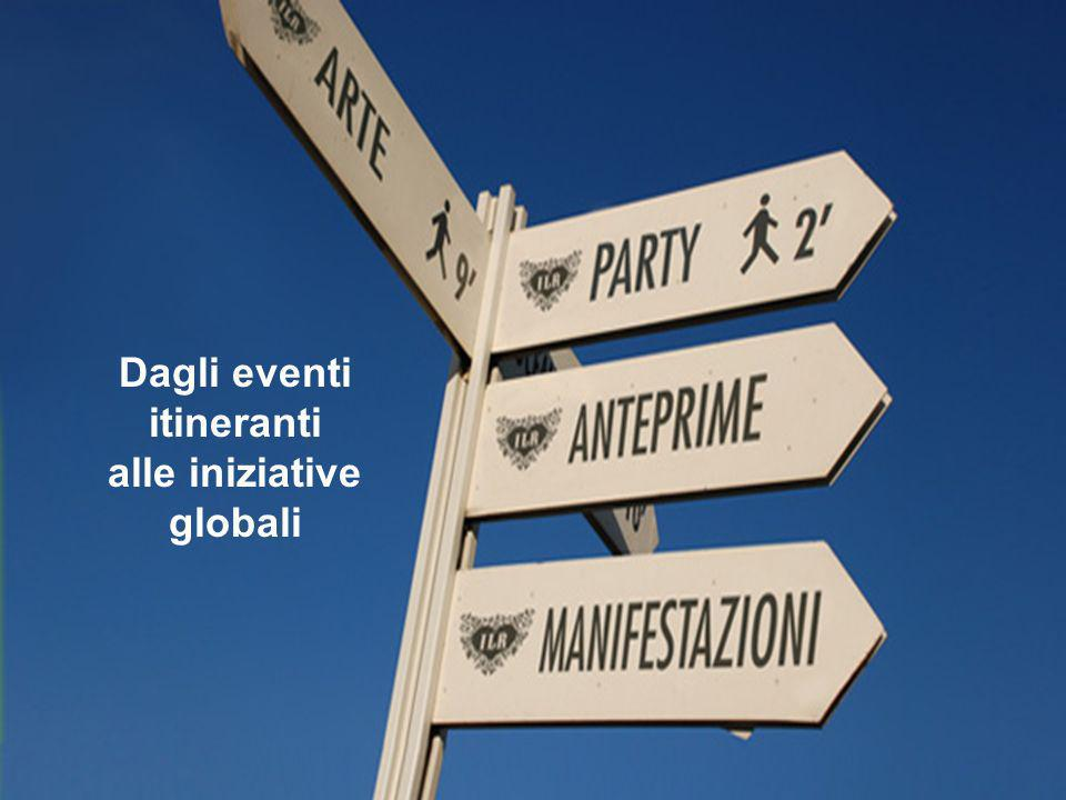 Dagli eventi itineranti alle iniziative globali