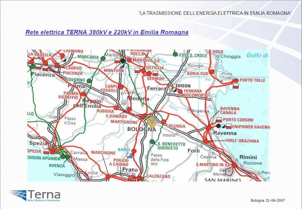 Foto notturne che dimostrano lefficacia dellilluminazione sulle apparecchiature Interventi realizzati Bologna 21-06-2007 LA TRASMISSIONE DELLENERGIA ELETTRICA IN EMILIA ROMAGNA