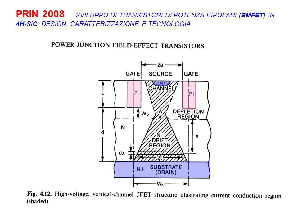 PRIN 2008 SVILUPPO DI TRANSISTORI DI POTENZA BIPOLARI (BMFET) IN 4H-SiC: DESIGN, CARATTERIZZAZIONE E TECNOLOGIA