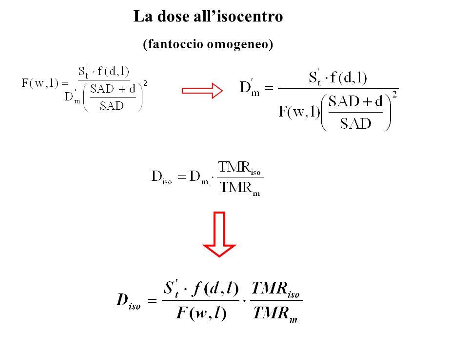 La dose allisocentro (fantoccio omogeneo)
