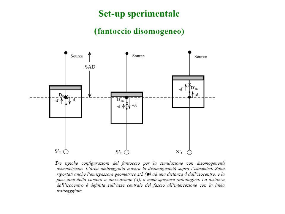 Set-up sperimentale ( fantoccio disomogeneo)
