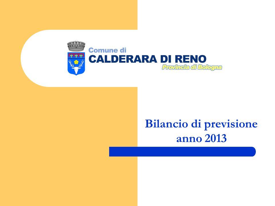Bilancio di previsione anno 2013