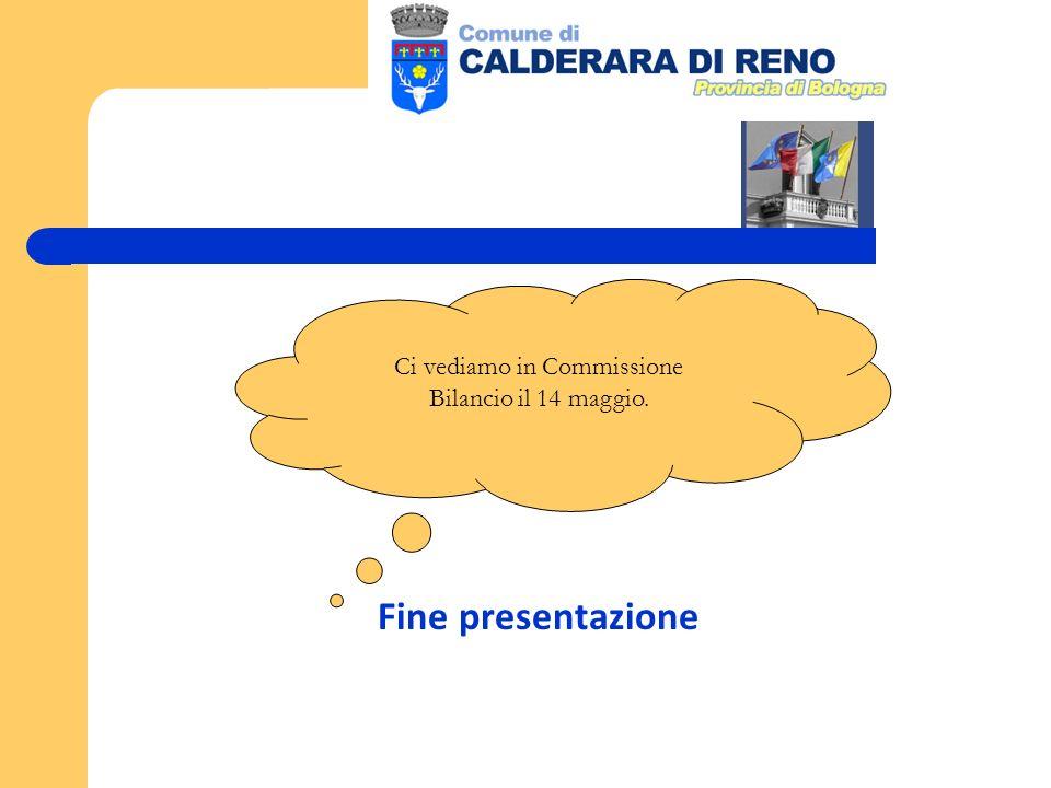 Fine presentazione Ci vediamo in Commissione Bilancio il 14 maggio.