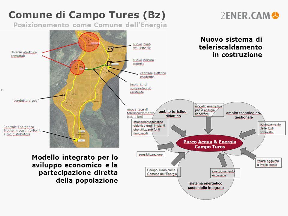 Comune di Campo Tures (Bz) Nuovo sistema di teleriscaldamento in costruzione Modello integrato per lo sviluppo economico e la partecipazione diretta d