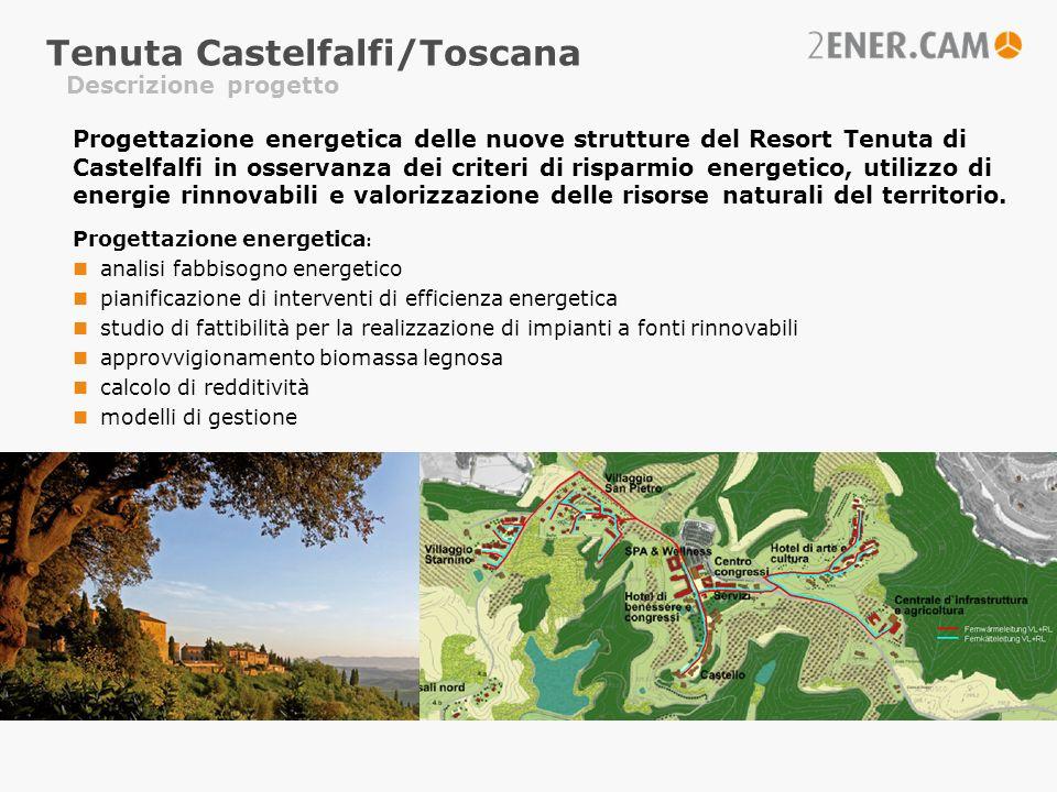 Descrizione progetto Tenuta Castelfalfi/Toscana Progettazione energetica delle nuove strutture del Resort Tenuta di Castelfalfi in osservanza dei crit