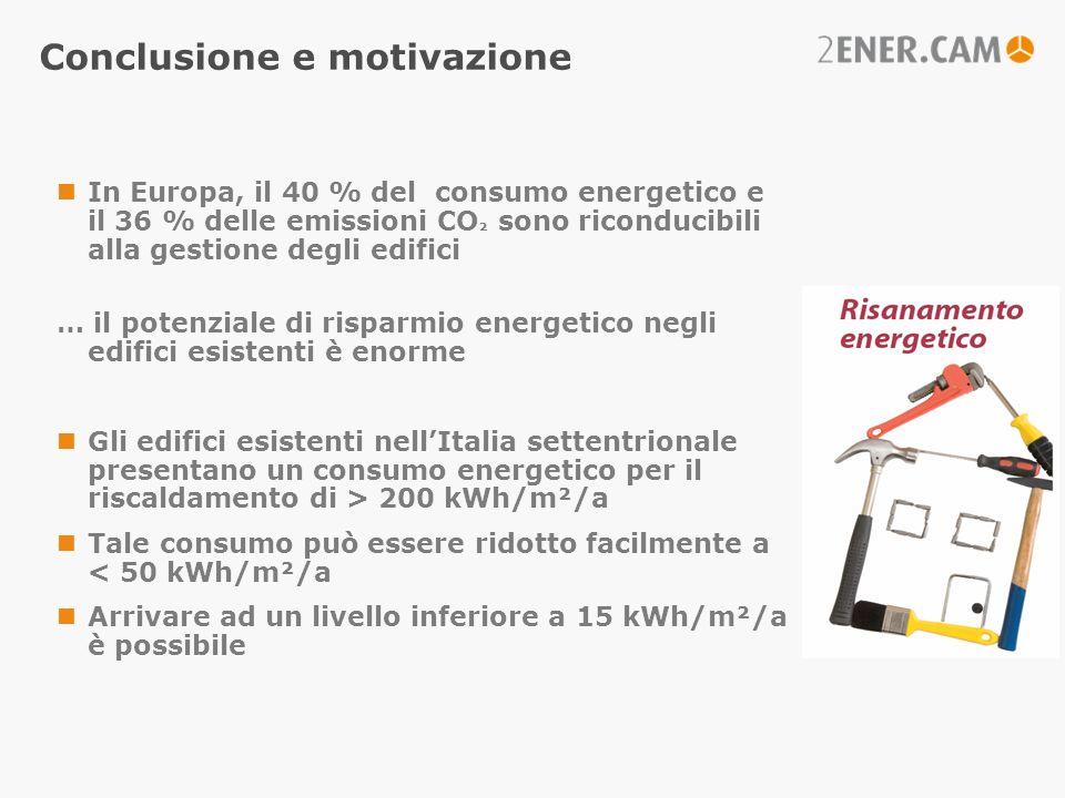 Conclusione e motivazione In Europa, il 40 % del consumo energetico e il 36 % delle emissioni CO ² sono riconducibili alla gestione degli edifici … il