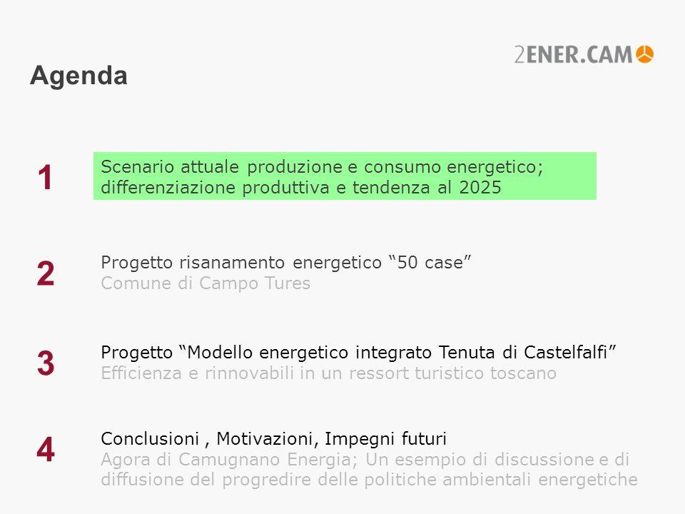 Configurazione impiantistica 2010 Tenuta Castelfalfi/Toscana