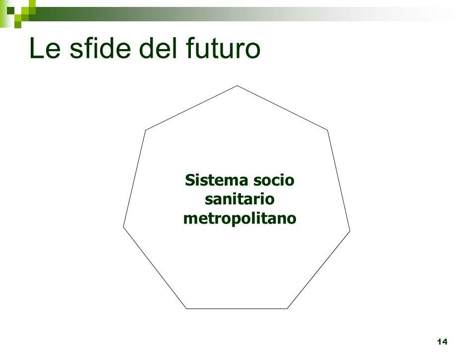 Le sfide del futuro 14 Sistema socio sanitario metropolitano
