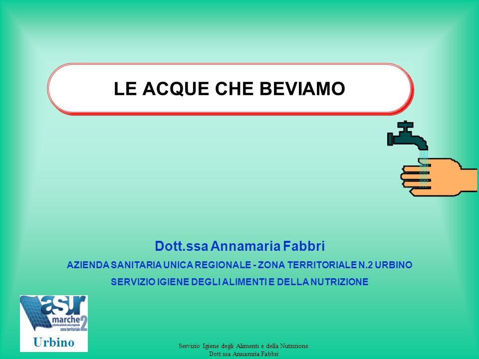 Servizio Igiene degli Alimenti e della Nutrizione Dott.ssa Annamria Fabbri CONTROLLO ACQUE DI NUOVA UTILIZZAZIONE acque sotterranee D.M.