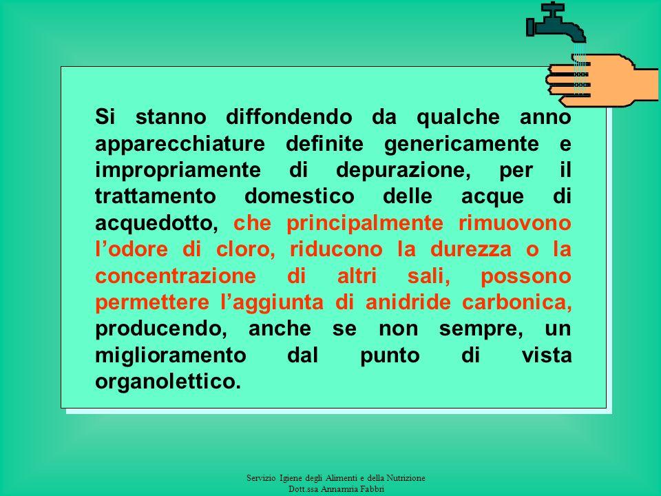 Servizio Igiene degli Alimenti e della Nutrizione Dott.ssa Annamria Fabbri Acque superficiali Decreto Legislativo n. 152/99 e successive modificazioni