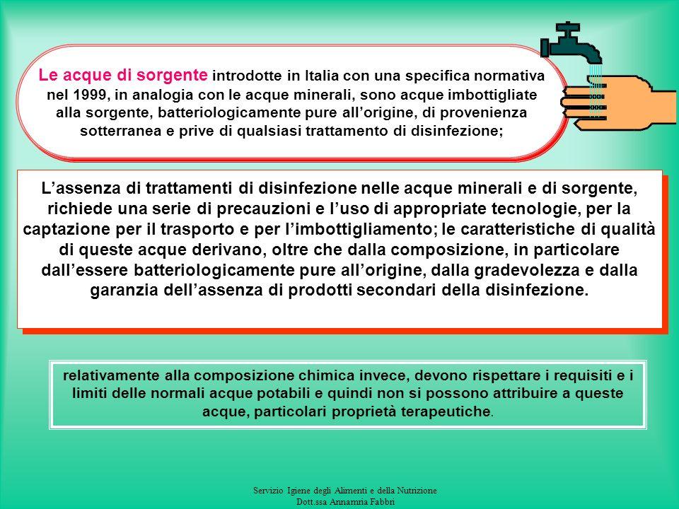 Servizio Igiene degli Alimenti e della Nutrizione Dott.ssa Annamria Fabbri PER LE ANALISI MICROBIOLOGICHE I CAMPIONI PRELEVATI DAGLI ORGANI SANITARI D