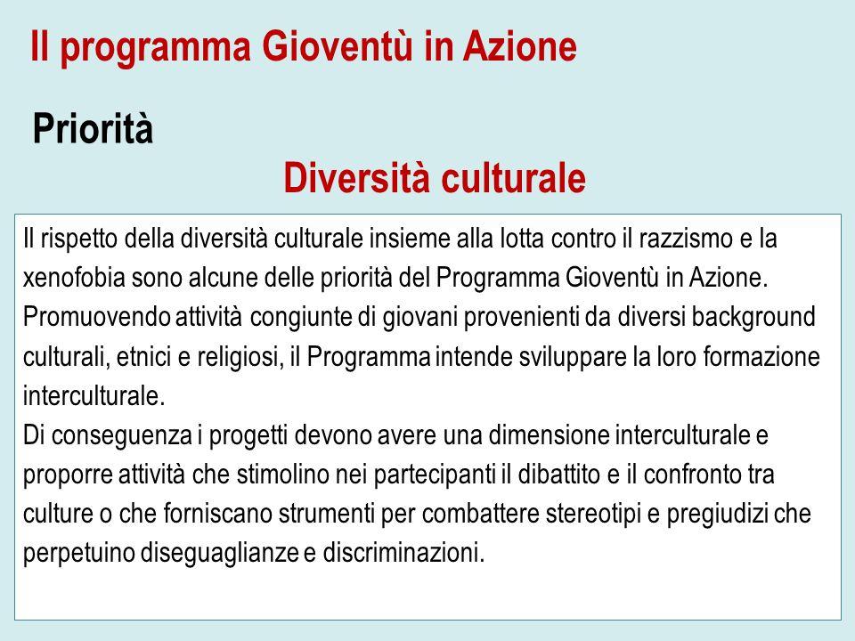 Il rispetto della diversità culturale insieme alla lotta contro il razzismo e la xenofobia sono alcune delle priorità del Programma Gioventù in Azione