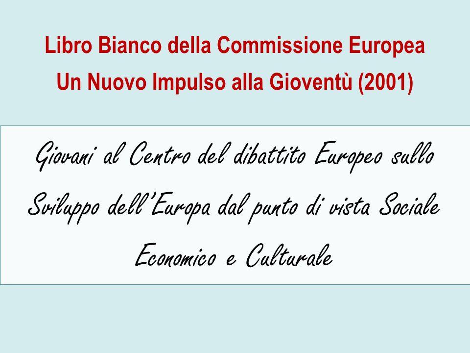 Libro Bianco della Commissione Europea Un Nuovo Impulso alla Gioventù (2001) Giovani al Centro del dibattito Europeo sullo Sviluppo dellEuropa dal pun