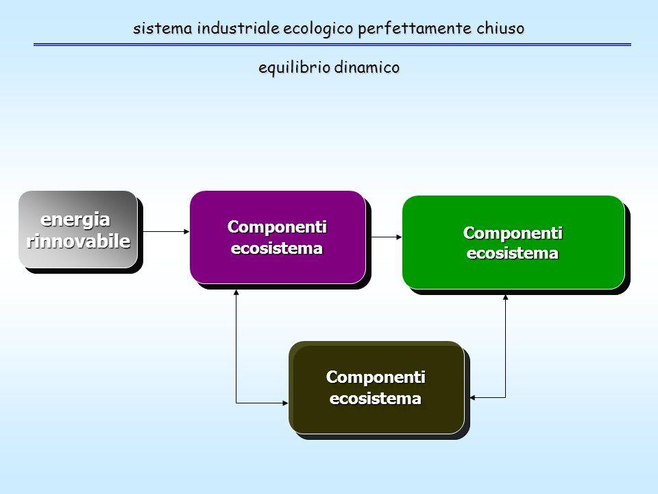 sistema industriale ecologico perfettamente chiuso equilibrio dinamico energiarinnovabileenergiarinnovabileComponentiecosistemaComponentiecosistema ComponentiecosistemaComponentiecosistema ComponentiecosistemaComponentiecosistema