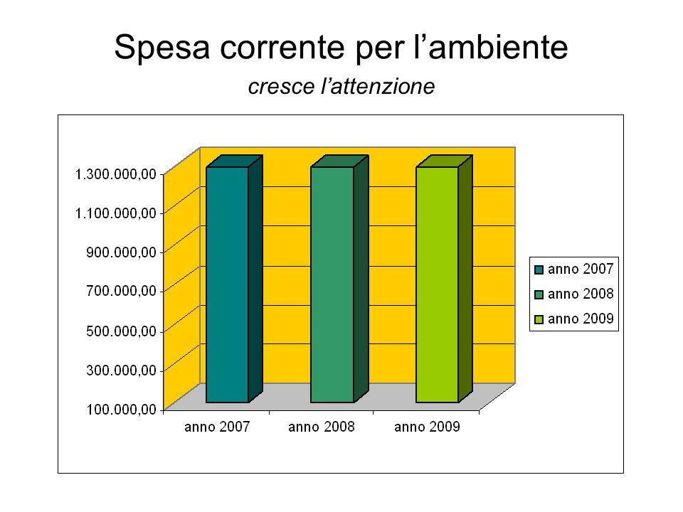 Spesa corrente per lambiente cresce lattenzione