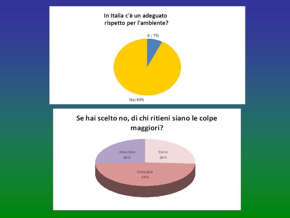 Si ; 7% No; 93% In Italia c è un adeguato rispetto per l ambiente