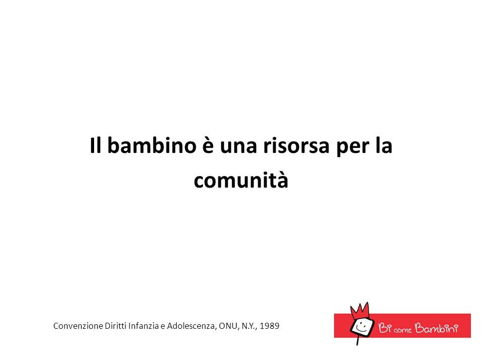 Il bambino è una risorsa per la comunità Convenzione Diritti Infanzia e Adolescenza, ONU, N.Y., 1989