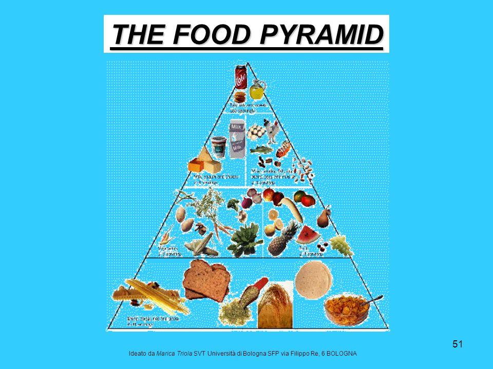 51 THE FOOD PYRAMID Ideato da Marica Triola SVT Università di Bologna SFP via Filippo Re, 6 BOLOGNA
