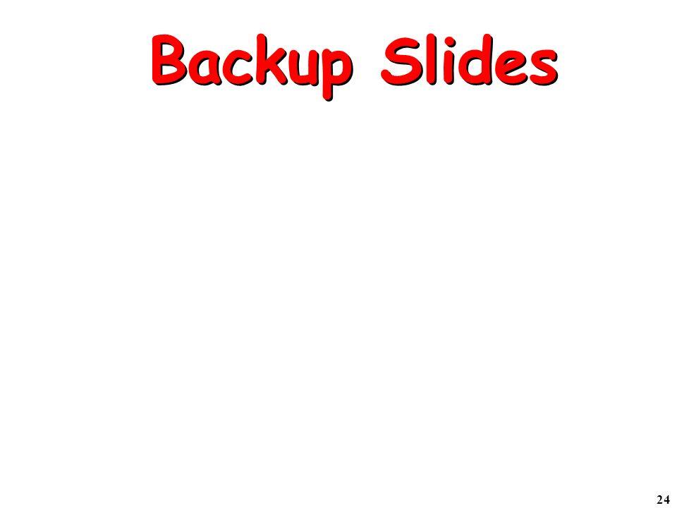 24 Backup Slides