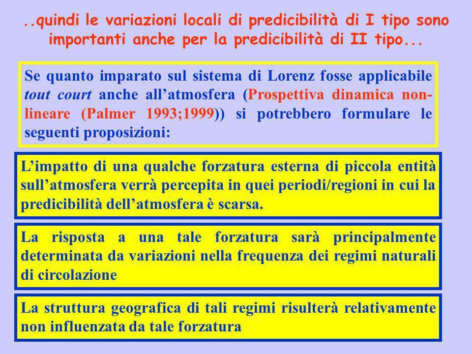 ..quindi le variazioni locali di predicibilità di I tipo sono importanti anche per la predicibilità di II tipo... Se quanto imparato sul sistema di Lo