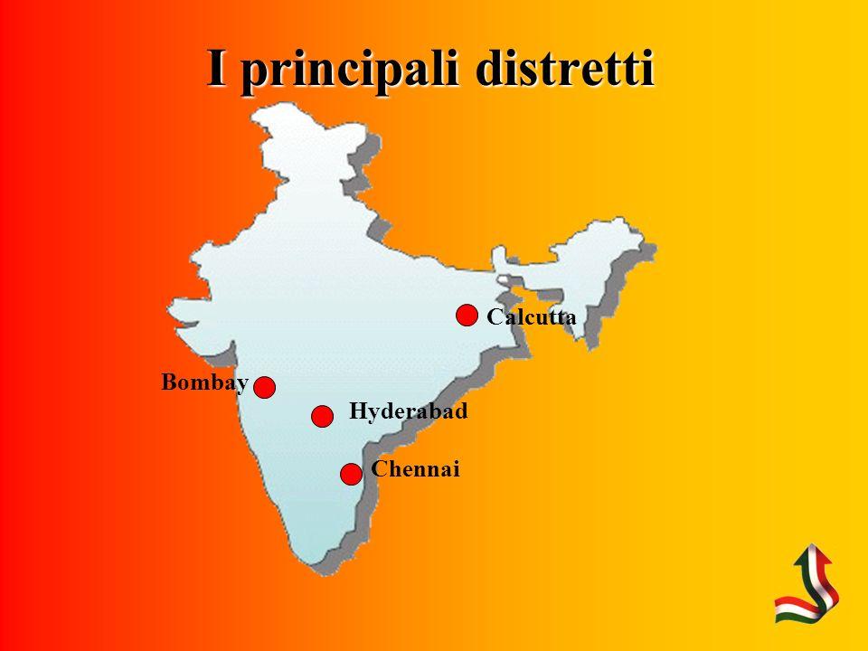 I principali distretti Chennai Hyderabad Bombay Calcutta