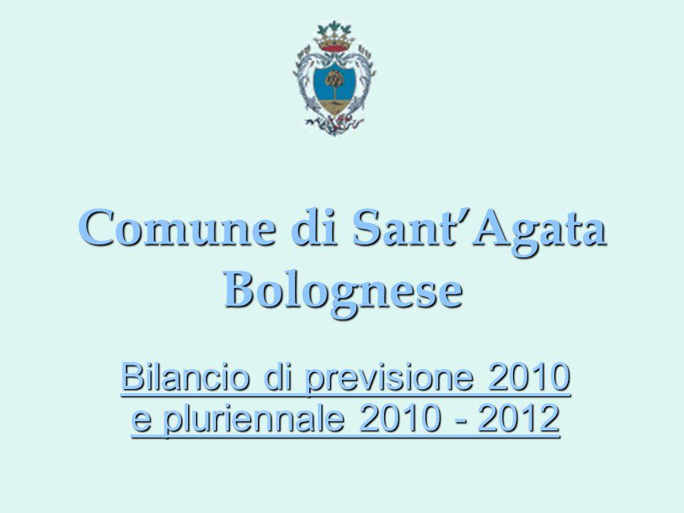 Comune di SantAgata Bolognese Bilancio di previsione 2010 e pluriennale 2010 - 2012
