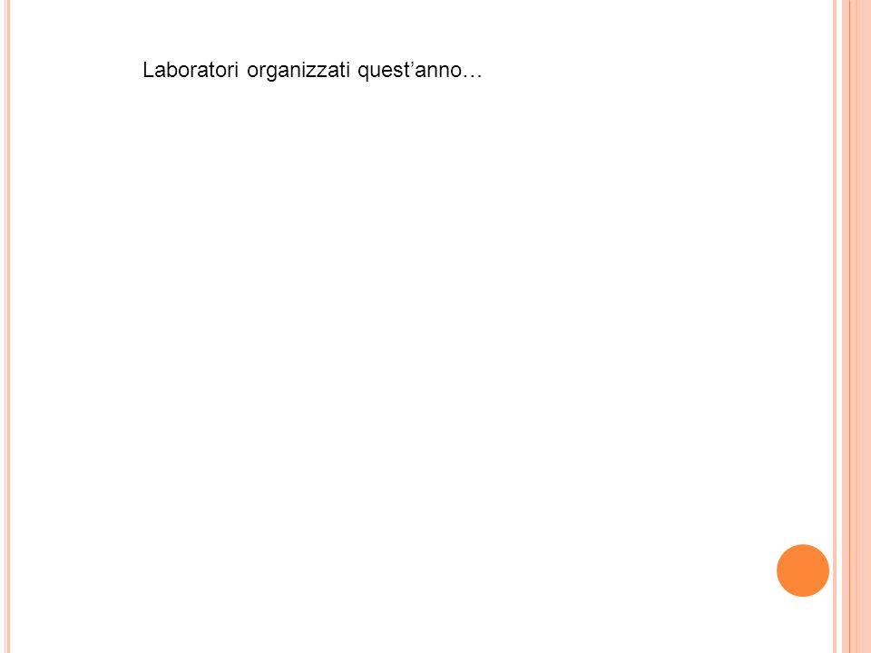 Laboratori organizzati questanno…